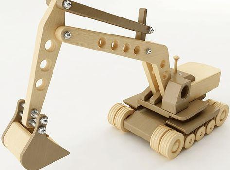 toy excavator 3d model max obj 3ds wrl wrz mtl 1