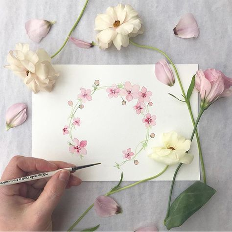 Learn to paint beautiful watercolour flowers with Harriet de Winton's book 'New Botanical Painting'. The number one bestselling watercolour book. Order your singed copy from clicking the link below.  #newbotanicalpainting#watercolourflowers #flowerpainting #pinkflowers #pinkwatercolourflowers #weddingstationery #weddinginvitation #watercolourwreath #watercolourweddingstationery #dewintonpaperco #watercolourbook #harrietdewinton