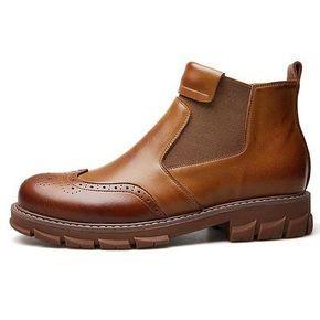 c01d755faae Jo Ghost Mens Italian Shoes Diver Col.Rosso Plato Boots (JG5133)