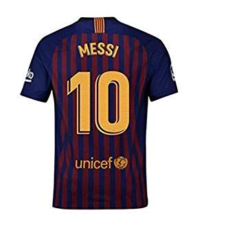 b3cc6f5a90e 2018-2019 New Season Barcelona  10 Messi Home Mens Soccer Jersey Color  Red Blue Size M