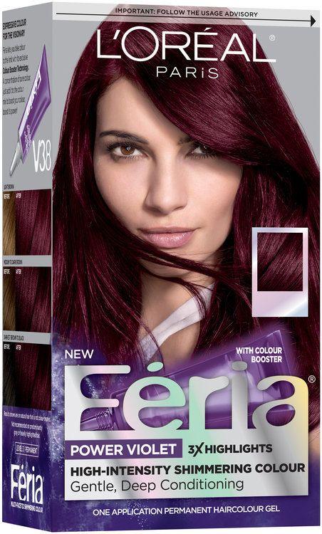 L Oreal Paris Feria Multi Faceted Shimmering Color 63 Light Golden Brown 1 Kit Reviews 2021 Deep Violet Hair Violet Hair Colors Hair Color Plum