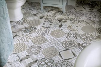 Utopia Bohemian Blues Tiles On Display At Grantham Derby And