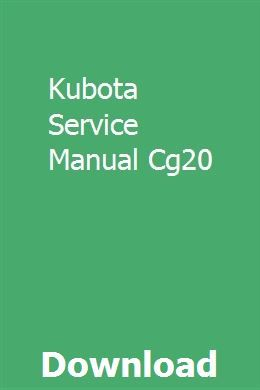 Kubota Service Manual Cg20 Rebuilt Transmission Transmission
