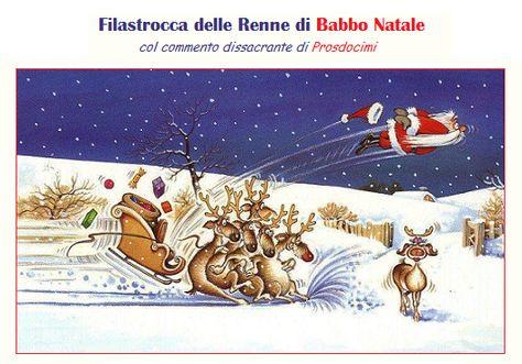 Filastrocca Delle Renne Di Babbo Natale Humor Dissacrante Di