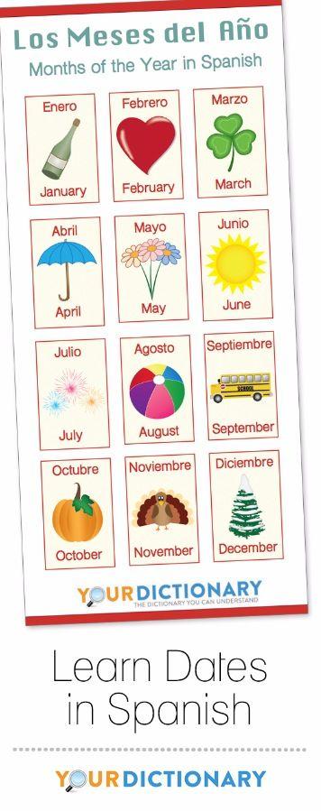 Dates In Spanish Learning Spanish Date In Spanish Learn Spanish Online