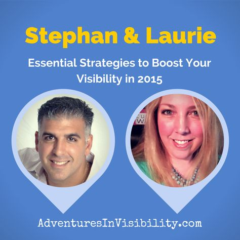 Adventures in Visibility with Stephan Hovnanian & Laurie Laizure, discussing strategies to help you boost your visibility online and offline in 2015. Video and mp3  http://denisewakeman.com/hoa/boost-your-visibility-in-2015/