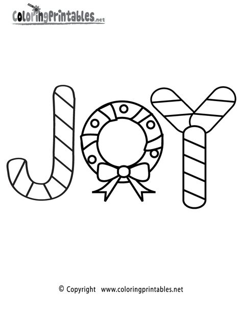 Christmas Joy Coloring Page A Free Holiday Coloring Printable Printable Christmas Coloring Pages Christmas Coloring Pages Free Christmas Coloring Pages