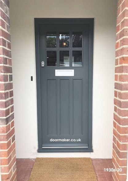 6 Pane 1930 S Door With 3 Flush Timber Panels And Frame 1000 In 2020 Cottage Front Doors Front Door Styles Painted Front Doors