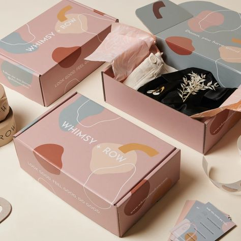 Our Process · Whimsy & Row · Sustainable Clothing & Lifestyle Brand Bakery Packaging, Brand Packaging, Box Packaging, Organic Packaging, Design Packaging, Pretty Packaging, Clothing Packaging, Jewelry Packaging, Clothing Branding