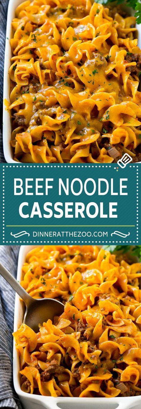 Beef Noodle Casserole Recipe   Ground Beef Casserole   Beef and Egg Noodles #casserole #beef #noodle #dinneratthezoo