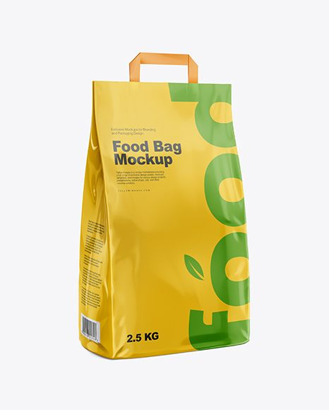 Download Glossy Food Bag Mockup Half Side View In Bag Sack Mockups On Yellow Images Object Mockups Bag Mockup Free Packaging Mockup Free Mockup