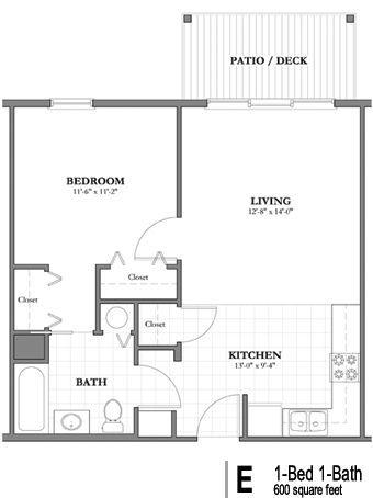 Adorning 600 Sq Ft Westlake Senior House Flooring Plans In 2020 Tiny House Floor Plans Small Floor Plans Floor Plans