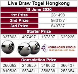 Live Draw Hongkong 18 Juni 2020