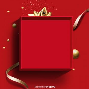 Elemental Background Of Red Simple Gift Box Png And Psd Red Gift Box Red Gift Yellow Gifts