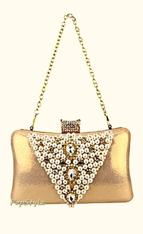 MG Collection Rhinestone Handbag