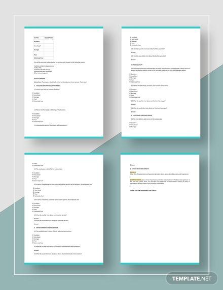 Basic Survey Template Word Doc Google Docs Apple Mac Pages Outlook In 2020 Survey Template Word Doc Templates