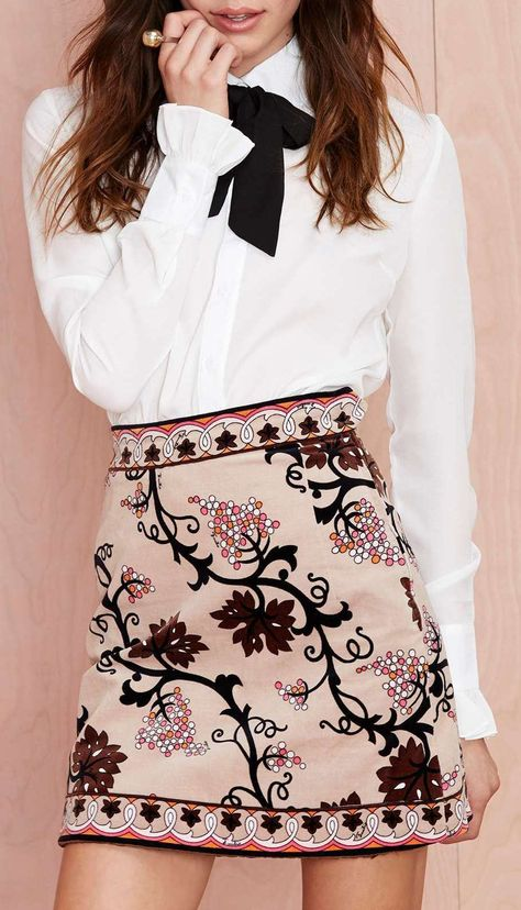 Vintage Emilio Pucci Escape Velvet Skirt - When it comes to all things Pucci…