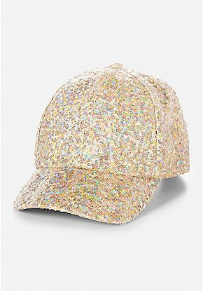 One Size * CUTE CLOTHES* Gold cap with sequins