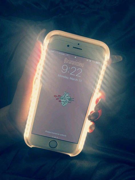 iPhone cases light up selfie case