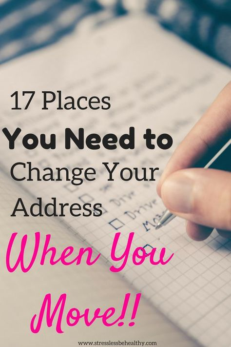 17 Places You Need to Change Your Address When You Move! Moving is stressful. Which is why lists are so helpful; they help combat some of that stress! Find out the most important places you need to change your address when you move. Tips For Moving Out, Moving House Tips, Moving Home, Moving Day, Moving Hacks, Moving Across Country Tips, Moving Stress, Buying First Home, Home Buying Tips