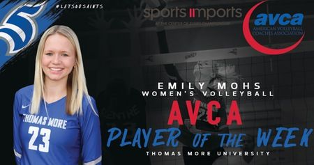 Mohs Named Sports Imports Avca Player Of The Week Women Volleyball Coaching Volleyball Sports