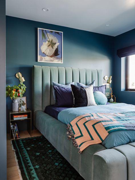 Oh Joy Studio Reveal: A Cozy Blue Guest Bedroom - Oh Joy!