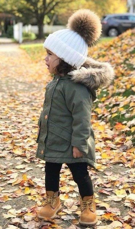 Girls Winter Outfits, Girls Winter Fashion, Little Girl Outfits, Little Girl Fashion, Kids Fashion, Fashion Clothes, Toddler Girls Fashion, Baby Girl Fall Outfits, Trendy Fashion