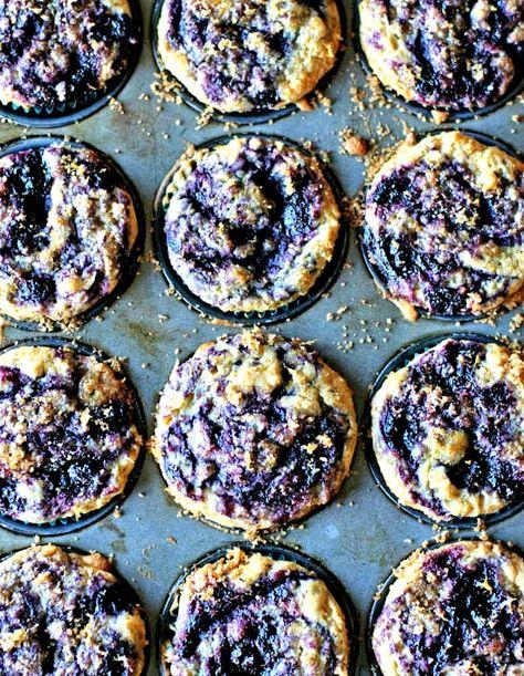 Gluten Free Blueberry Swirl Muffins | healthy green kitchen