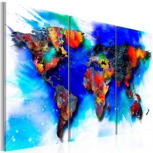 wandbild rainbow map gunstig online kaufen bei bettwaren shop in 2021 wandbilder leinwandbilder leinwand foto 60x90 bedruckt
