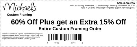 17 best michaels coupon images on pinterest michaels craft coupon and printable coupons - Michaels Custom Framing Cost