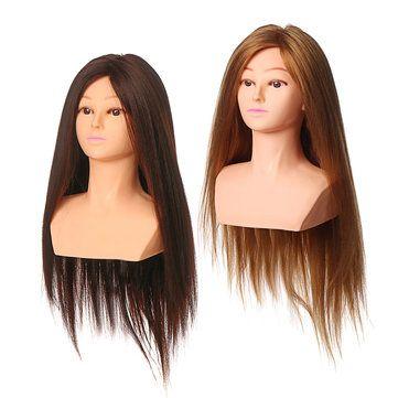 65cm Salon Long Hair Training Head Hairdressing Styling Hair Training Head Models Mannequin Doll Long Hair Styles Hair Styles Hair