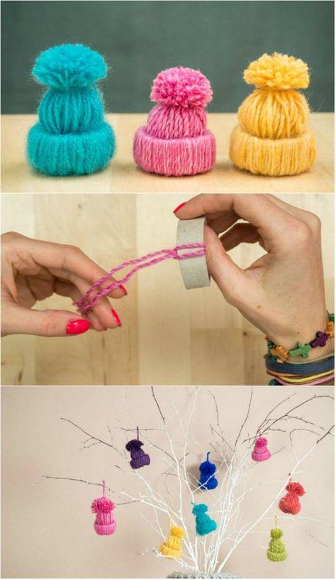 Dekorative Mini-Wollbecher - #dekorative #MiniWollbecher #bonnets Dekorative Mini-Wollbecher - #dekorative #MiniWollbecher