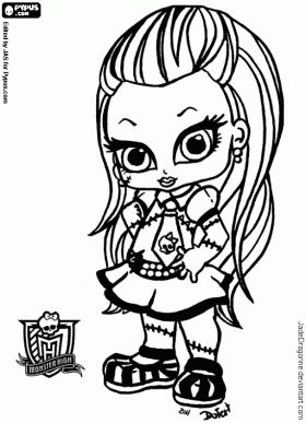 Monster High Frankie Coloring Pages Frankie The Little