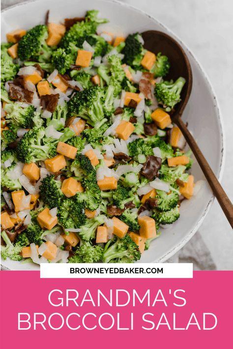 Broccoli Salad Recipe   Brown Eyed Baker