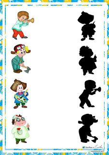 Fichas De Juegos De Sombras Para Niños Juego De Sombras Fichas Actividades Montessori