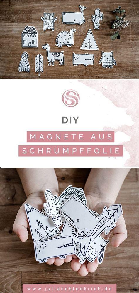 DIY: Süße Magnete aus Schrumpffolie für deine Lieblingsfotos. Wie du ganz schnell und einfach super niedliche Magnete aus Schrumpffolie selbst herstellst und deine Lieblingsfotos toll in Szene setzt. Ob für den Kühlschrank oder die magnetische Kreidetafel im Kinderzimmer. Da sich Schrumpffolie super schnell verarbeiten lässt ist es nebenbei das perfekte Material für Last-Minute-Geschenke! #diy wood photo DIY: Süße Magnete aus Schrumpffolie für deine Lieblingsfotos