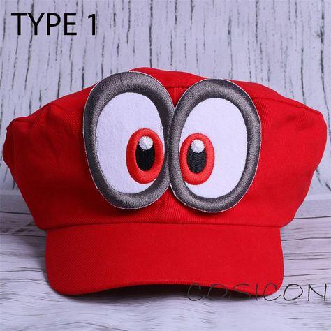 Super Mario Odyssey Cappy Hat Mario Caps Cosplay  Mario Red Hat