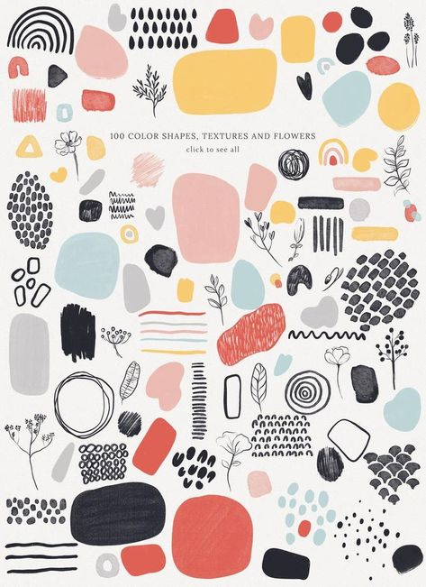 Abstract Shapes Vol.1, Wedding Graphics, Abstract Pattern, Modern Abstract Shapes, Scrapbook, Storie