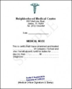 real doctors note