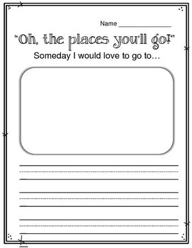 Oh The Place You Ll Go Dr Seus Worksheet And Activi Youll Day Bulletin Board Essay