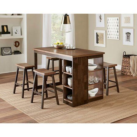 Progressive Furniture D879 14 36 X 59 X 30 In Kenny Counter Storage Table Walnut Chocolate Walmart Com Dining Table With Storage Progressive Furniture Small Kitchen Tables