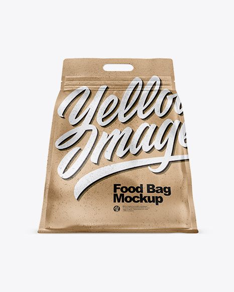 Download Kraft Paper Stand Up Food Bag Mockup Hero Shot In Bag Sack Mockups On Yellow Images Object Mockups Bag Mockup Mockup Free Psd Paper Stand