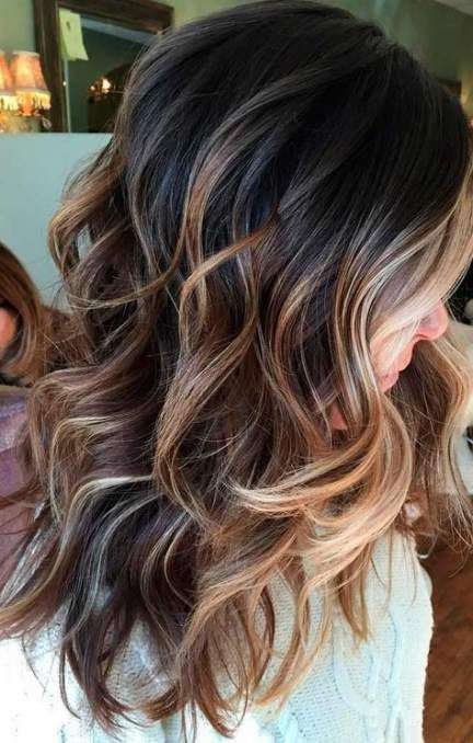 Hair Color Ideas For Brunettes With Brown Eyes Purple 34 Ideas For 2019 Hair Styles Balayage Hair Dark Hair Color Caramel