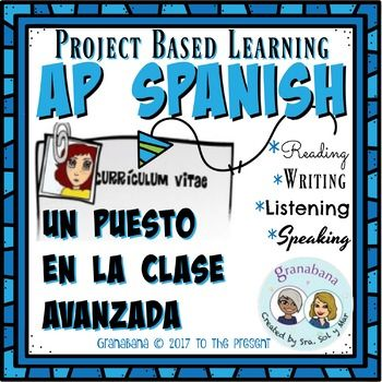 Project Based Learning No Prep Un Puesto En La Clase Avanzada