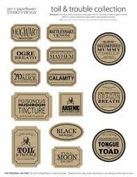 graphic relating to Harry Potter Apothecary Labels Free Printable named Resultado de imagem para harry potter apothecary labels absolutely free