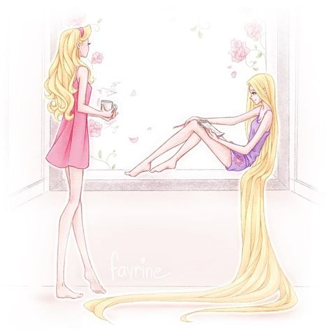 If you can dream it you can do it. 🌸✨ Aurora and Rapunzel