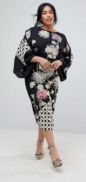 Plus Size Kimono Dress #Plussize | Plus size kimono dress ...