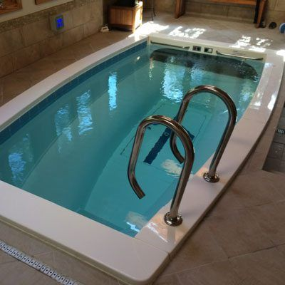 small inground pool for competitive swimming and exercise ...