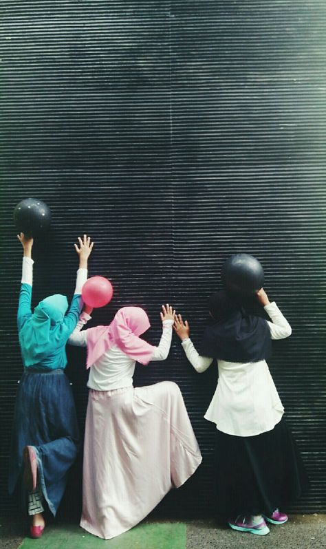 #Hijab #muslimah #tumblr #Happiness #ballon #daily