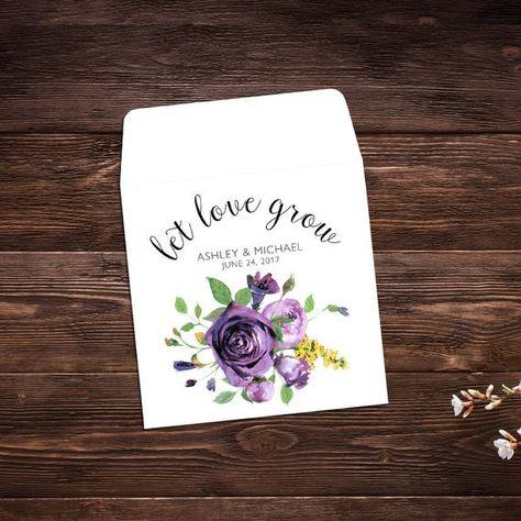 Let Love Grow Favors, 25 Seed Packet Favor, #seedpackets #seedfavors #weddingfavors #weddingseedfavor #weddingseedpackets #seedpacket #weddingfavor #seedfavor #seedpacketenvelope #seedpacketfavor #flowerseeds #springwedding #wildflowerseeds